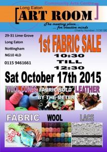 Fabric sale October 2015
